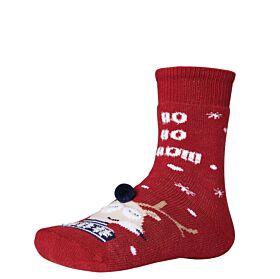 Ysabel Mora Βαμβακερή Αντιολισθητική Κάλτσα Christmas Time Μπορντό
