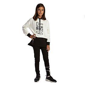 Trax Παιδική Φόρμα Σετ Κορίτσι Art Εκρού-Μαύρο