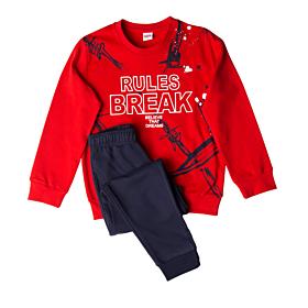 Trax Παιδική Φόρμα Σετ Αγόρι Rules Break Κόκκινο-Μπλέ