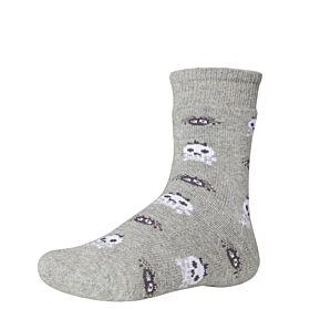Ysabel Mora Βαμβακερή Αντιολισθητική Κάλτσα 42225 Γκρι Μελανζέ