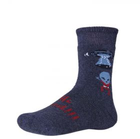 Ysabel Mora Βαμβακερή Αντιολισθητική Κάλτσα 42226 Μπλε Μωβ