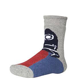 Ysabel Mora Βαμβακερή Αντιολισθητική Κάλτσα 42226 Τερακότα-Γκρι Μελανζέ