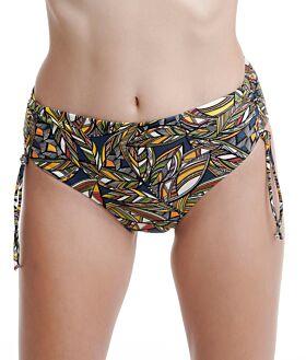 Erka Μαγιό Bikini Bottom Slip 45117 Εμπριμέ Μουσταρδί