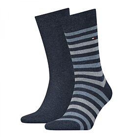 Tommy Hilfiger Ανδρική Κάλτσα Σετ 2 Ζευγαριών Μπλέ Jeans