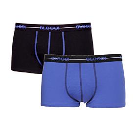 Sloggi Men Boxer Start Hipster Μαύρο-Μπλε 2τεμ