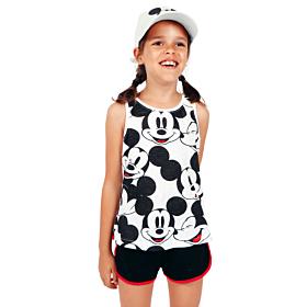 Admas Παιδική Πιτζάμα Tween Chica Mickey Heads Λευκό-Μαυρό