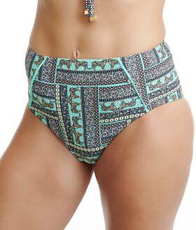 Erka Μαγιό Bikini Bottom High Leg Slip 55118 Εμπριμέ Βεραμάν