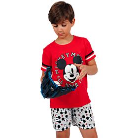 Admas Παιδική Πιτζάμα Tween Chico Mickey All Stars Κόκκινο