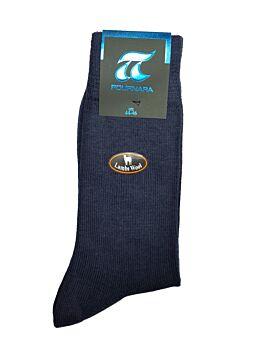 Πουρνάρα Αντρική κάλτσα Μάλλινη Casual Μπλε 604