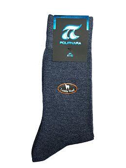 Πουρνάρα Ανδρική Κάλτσα Μάλλινη Casual Μπλε Ράφ 604