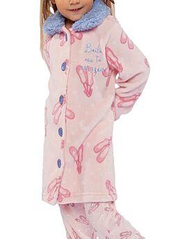 Muydemi Παιδική Fleece Ρόμπα Κορίτσι Ρόζ-Γαλάζιο