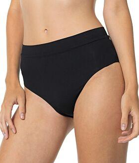 Erka Μαγιό Bikini Bottom High Leg Slip Μαύρο