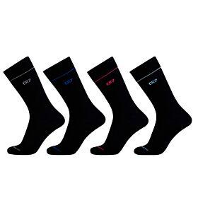 Cr7 Mens Socks Cotton Stretch 4-Pack Μαύρο