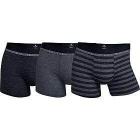 CR7 Mens Boxer 3-Pack Soft Bamboo Μαύρο-Γκρί