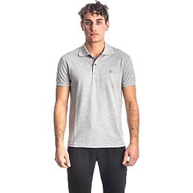 Paco & Co Polo T-Shirt Μονόχρωμο 85500 Γκρι Μελανζέ