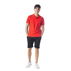 Paco & Co Polo T-Shirt Μονόχρωμο 85500 Κόκκινο