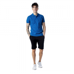 Paco & Co Polo T-Shirt Μονόχρωμο 85500 Μπλε Ρουά