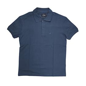 Paco & Co Polo T-Shirt Μονόχρωμο 85500 Μπλε Ραφ