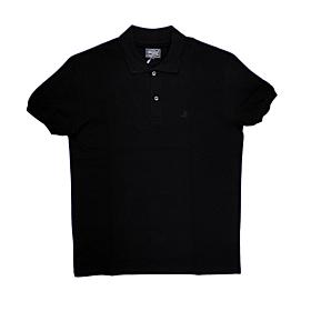 Paco & Co Polo T-Shirt Μονόχρωμο 85500 Μαύρο
