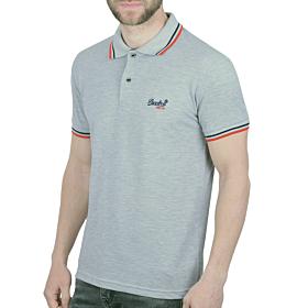 Paco & Co Polo T-Shirt Μονόχρωμο Γκρι Μελανζέ