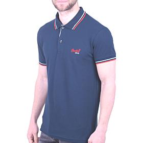 Paco & Co Polo T-Shirt Μονόχρωμο Μπλε Ραφ
