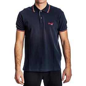Paco & Co Polo T-Shirt Μονόχρωμο Μπλε Μαρίν
