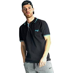 Paco & Co Polo T-Shirt Μονόχρωμο Μαύρο