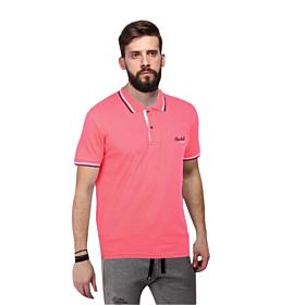 Paco & Co Polo T-Shirt Μονόχρωμο Κοραλί