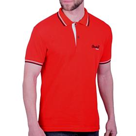 Paco & Co Polo T-Shirt Μονόχρωμο Κόκκινο