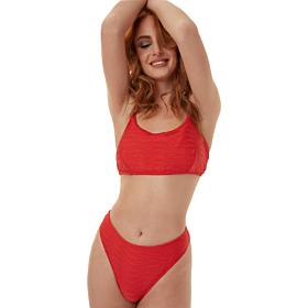 Minerva Athina Bralette Bikini Top Cup B Κόκκινο