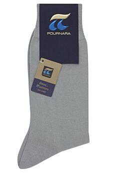 Πουρνάρα Ανδρική Κάλτσα Βαμβακερή Γκρι Ανοικτό 110