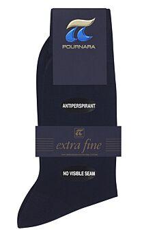 Πουρνάρα Ανδρική Κάλτσα Βαμβακερή Χωρίς Ραφές Μπλε 150