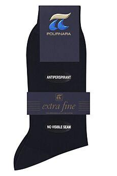 Πουρνάρα  Αντρική Κάλτσα Χωρίς Ραφές Μαύρο 150