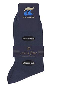 Πουρνάρα Ανδρική Κάλτσα Βαμβακερή Χωρίς Ραφές Μπλε Ράφ 150