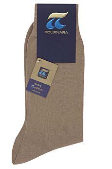 Πουρνάρα Ανδρική Κάλτσα Βαμβακερή Μπέζ Μεσαίο 110