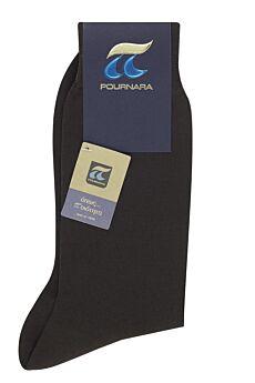 Πουρνάρα Ανδρική Κάλτσα Βαμβακερή Καφέ 110