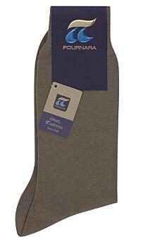Πουρνάρα Ανδρική Κάλτσα Βαμβακερή Λαδί Μπέζ 110
