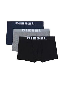 Diesel Cotton Stretch Trunks 3pack Μαύρο-Μπλέ-Γκρί