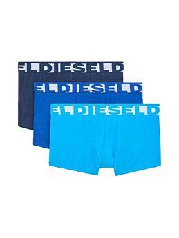 Diesel Cotton Stretch Trunks 3pack Τιρκουάζ-Μπλέ-Μπλέ Μαρίν
