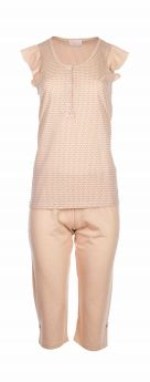 Pink Label Γυναικεία Πιτζάμα S919 Μπέζ Της Αμμού