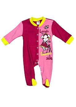 Pretty Baby Βρεφικό Βαμβακερό Φορμάκι Lovely Countryside Φούξ-Ρόζ