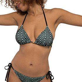 Dorina Zanzi Triangle Light Padded Μαγιό Bikini Top Μαύρο