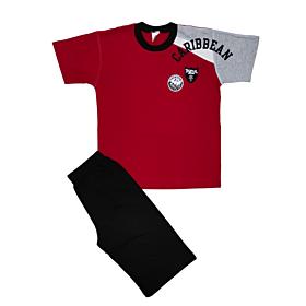 Minerva Παιδική Πιτζάμα Αγόρι Caribbean Κόκκινο-Μαύρο