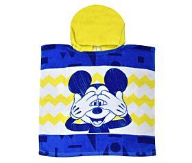Stamion Πόντσο Θαλάσσης Mickey Mouse 50*100cm Λευκό-Μπλε