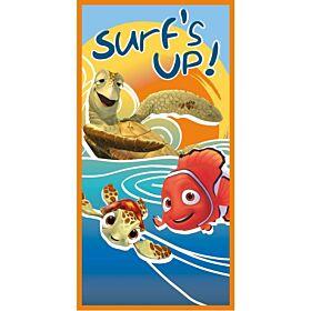 Stamion Πετσέτα Θαλάσσης Nemo Surf's Up 70*140cm Μπλε-Πορτοκαλί