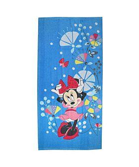 Stamion Πετσέτα Θαλάσσης Disney Minnie Λουλούδια 70*140cm Γαλάζιο