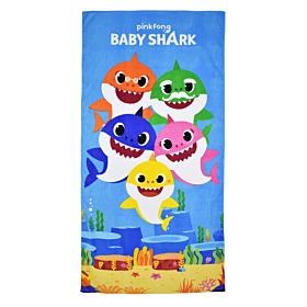 Stamion Πετσέτα Θαλάσσης Baby Shark Pink Fong 70*140cm Γαλάζιο-Εμπριμέ