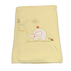 Be Be Bunny Βρεφική Βαμβακερή Κουβέρτα Κούνιας 110*80cm Elephant Αγόρι Κίτρινο