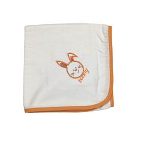 Be be Bunny Βρεφική Πάνα Λαγός Λευκό-Πορτοκαλί 90*90