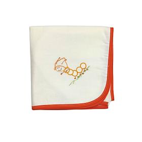 Be be Bunny Βρεφική Πάνα Σαρανταποδαρούσα Λευκό-Πορτοκαλί 90*90
